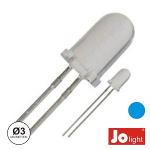 LED 3mm Alto Brilho Azul Jolight - (LL0310B)