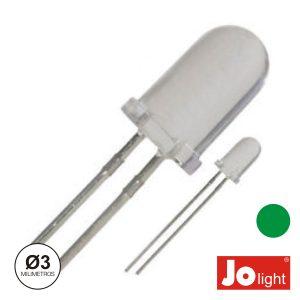 LED 3mm Alto Brilho Verde Jolight - (LL0310G)