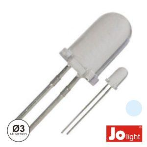 LED 3mm Alto Brilho Branco Frio Jolight - (LL0310PW)