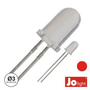 LED 3mm Alto Brilho Vermelho Jolight - (LL0310R)