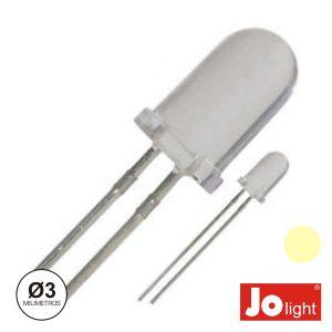 LED 3mm Alto Brilho Branco Quente Jolight - (LL0310WW)