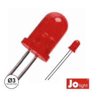 LED 3mm Vermelho Difuso Intermitente Jolight - (LL0340R-D)