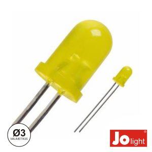 LED 3mm Amarelo Difuso Intermitente Jolight - (LL0340Y-D)