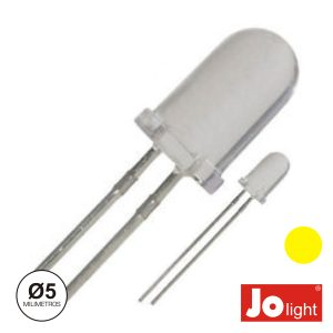 LED 5mm Alto Brilho Amarelo Jolight - (LL0510Y)