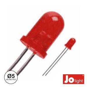 LED 5mm Vemelho 12V Difuso Jolight - (LL0550R-D)