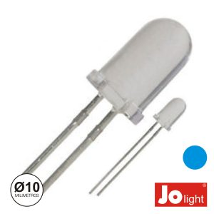 LED 10mm Alto Brilho Azul Jolight - (LL1010B)