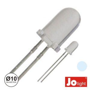 LED 10mm Alto Brilho Branco Frio Jplight - (LL1010PW)