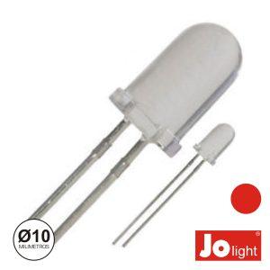 LED 10mm Alto Brilho Vermelho Jolight - (LL1010R)