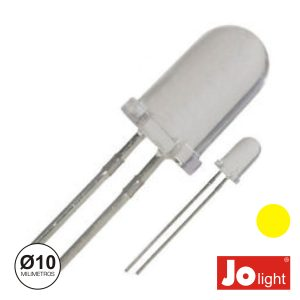 LED 10mm Alto Brilho Amarelo Jolight - (LL1010Y)
