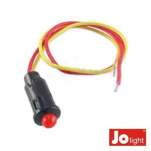 LED 5mm Alto Brilho Vermelho 12V DC C/19cm Cabo Jolight - (LL9010)