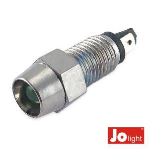 LED 5mm Alto Brilho Verde C/Suporte Metalico Jolight - (LL9040)