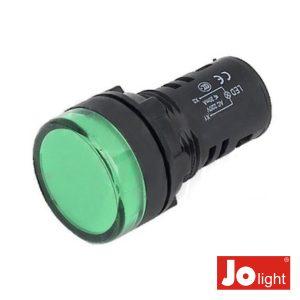Luz Piloto Redondo De Painel 19.5mm 230V Verde Jolight - (LL9056-4)