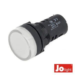 Luz Piloto Redondo De Painel 19.5mm 230V Branco - (LL9056-6)