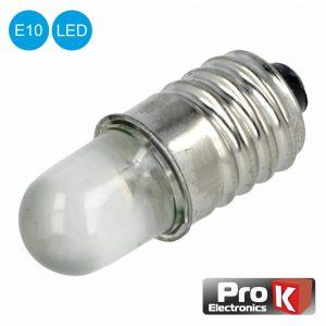Lâmpada LED E10 24V AC/DC - (LLE10/24)