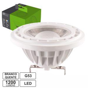 Lâmpada G53 Ar111 LED Cob 15W 12V Branco Quente 1200lm - (LLG5315WW(F))