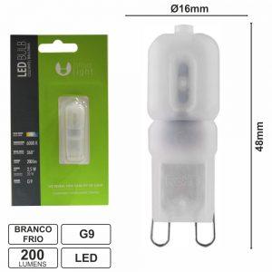 Lâmpada G9 2.5W=20W 230V Branco Frio 200lm - (LLG902CW(F))