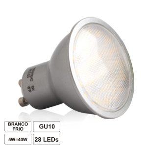Lâmpada GU10 5W 230V 28 LEDS SMD 2835 Branco Frio 440lm - (LLGU05CWA(F))
