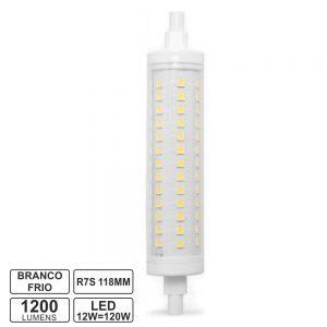 Lâmpada R7s 12W 230V LED 118mm Branco Frio - (LLR7S11812CW)