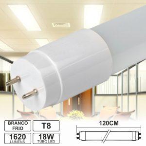 Lâmpada Tubular 18W 120cm LEDS T8 Branco Frio 1620lm - (LLTT812018CWA(E))