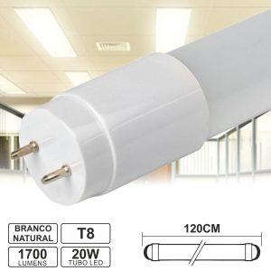 Lâmpada Tubular 20W 120cm LEDS T8 Branco Natural 1700lm - (LLTT812020NW(E))