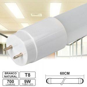 Lâmpada Tubular 9W 60cm LEDS T8 4000K 700lm - (LLTT8609NW(FL))
