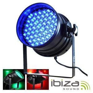 Projetor PAR64 C/ 177 LEDS RGB 5mm DMX 36W IBIZA - (LP64LED-PROMO)
