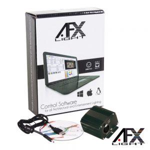 Controlador DMX C/ SoftWare Interface USB AFXLIGHT - (LS512DMX)