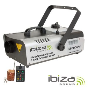 Máquina De Fumos 1200W Controlador/Comando DMX IBIZA - (LSM1200PRO)