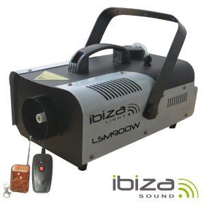 Máquina De Fumos 900W Controlador/Comando IBIZA - (LSM900W)