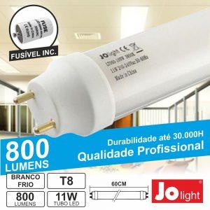 Lâmpada Tubular 11W 60cm LEDS T8 Branco Frio 800lm Jolight - (LT060-10PW)