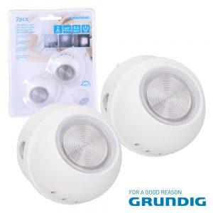 Luz De Presença 1 LED Branco 0.4W Rotação 360º 230V 2x Grund - (20690)