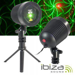 Projetor Laser 40-60mW Vermelho/Verde Exterior Comando IP65 - (LZR-RGOUTDOOR)