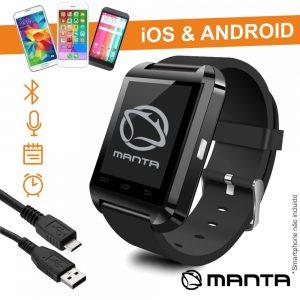 "SmartWatch Multifunções 1.44"" C/ Sensor-G MANTA - (MA424N)"
