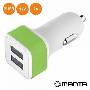 Adaptador Ficha Isqueiro 12V/24V / 2 USB 5v 1A MANTA - (MA434)