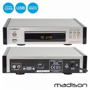 Leitor Mp3 C/ FM/Cd/Cd-R/Cd-RW Comando Madison - (MAD-CD10)