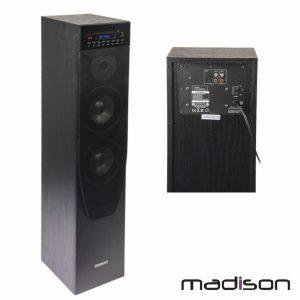 Coluna Centro Amplificada FM/USB/BT/CD 200W MADISON - (MAD-CENTER200CDBK)