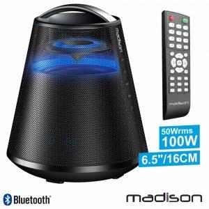 Coluna Bluetooth Portátil Preto 100W USB/BT/FM/Aux/Bat - (MAD-DIAMONT360-BK)