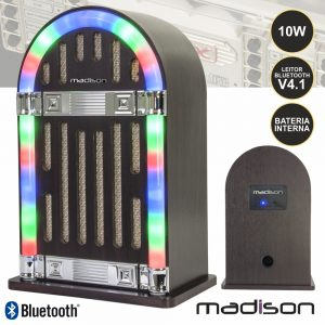 Jukebox C/ Leitor Bluetooth Bat 10W - (MAD-JUKEBOX10)