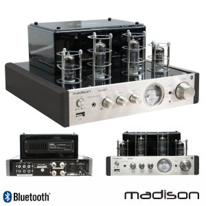 Amplificador A Válvulas 2x50W Vintage USB/BT Madison - (MAD-TA10BT)