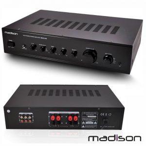 Amplificador Stereo Hifi 2x180W 3 Entradas Preto Madison - (MAD1305BK)