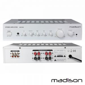 Amplificador Stereo Hifi 2x180W 3 Entradas Branco Madison - (MAD1305WH)