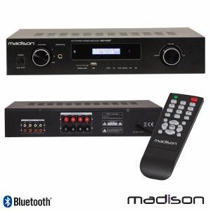 Amplificador Stereo Hifi 2x180W 3 Entradas USB/BT/FM Madison - (MAD1400BT-BK)