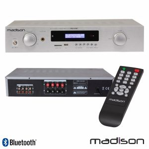 Amplificador Stereo Hifi 2x180W 3 Entradas USB/BT/FM Madison - (MAD1400BT-WH)