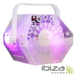 Máquina De Bolhas 25W C/ Iluminação RGB IBIZA - (LBM10-CLEAR)