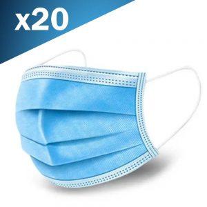 Máscara de Proteção Anti Bacteriana 3 Camadas - (MASK02)