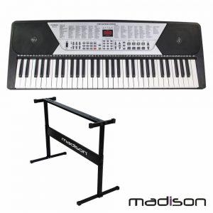 Orgão Teclado Elétrico Musical 61 Teclas E Suporte Madison - (MEK61128-PACK)