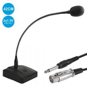 Microfone Condensador Pescoço Cisne Botão - (MH-35A)