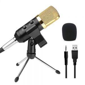 Microfone Condensador De Estúdio C/ Suporte - (MIC-COND-01)