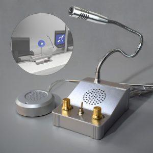 Microfone c/ Intercomunicador Bi-Direcional p/ Vidro - (SISTCONF01)