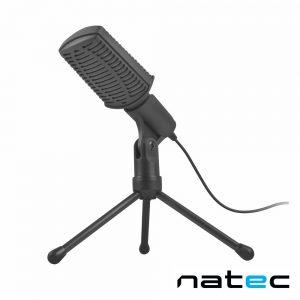 Microfone Condensador Cardióide Preto NATEC - (NMI-1236)